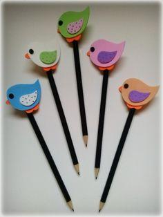 Paper Crafts For Kids, Crafts For Kids To Make, Foam Crafts, Craft Stick Crafts, Pencil Topper Crafts, Pencil Crafts, Pencil Toppers, Preschool Art Activities, Preschool Arts And Crafts