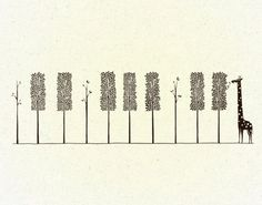 Tree, tree, tree... giraffe.