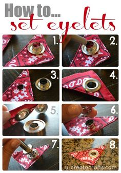 How to set eyelets / grommets
