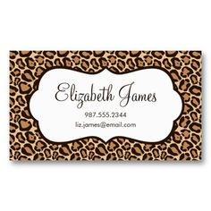 Elegant event planner platinum leopard chic bow business card girly leopard print business card colourmoves