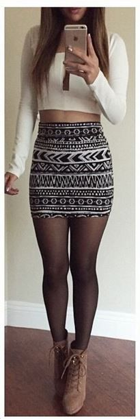 Tulum mini skirt from Colors of Aurora. Love the pattern!