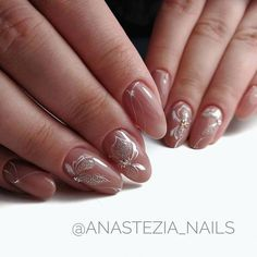 Домашний маникюр | Дизайн ногтей новинки #pureart Soft Nails, Pink Nails, Glitter Nails, Toe Nail Art, Easy Nail Art, Toenail Art Designs, October Nails, Bridal Nail Art, Different Nail Designs
