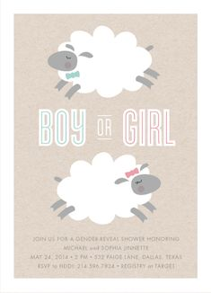 baby shower invitations - little lamb by Susan Asbill