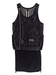 Rick Owens Men's Mesh Savage Leather Show Tank