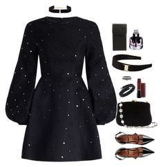 """What happens in Vegas..."" by xoxomuty ❤ liked on Polyvore featuring Zimmermann, RED Valentino, Serpui, Anissa Kermiche, Swarovski, Cartier, Salvatore Ferragamo, Chanel, Yves Saint Laurent and models"