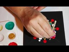 How to paint rock mandalas #4- Christmas design - YouTube