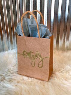 Enjoy Gift Bag  4 1/2 X 5 1/2 Paper Kraft Bag  by LetterEatCake