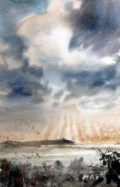 Watercolor by Emmanuele Cammarano  Cape Palinuro https://www.facebook.com/photo.php?fbid=1730136293939429