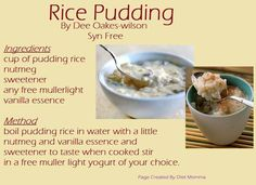 Syn Free Rice Pudding :)
