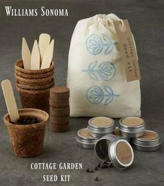 Williams Sonoma Cottage Garden Seed Kit.  Gardening gift ideas, Gardening gift basket, Gardening kit, Gardening kit gifts, Gardening kit DIY, Cottage garden ideas, Gifts for her, Gifts for mom, Gift ideas,  #giftideas #giftsforher #ad #mothersday