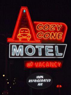 Cozy Cone Motel neon sign