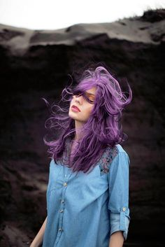 purple hair~ love it! Would never do it though