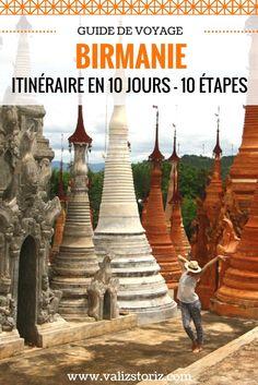 10 jours de voyage en Birmanie et ce fut bien trop court !! Je vous conseille de réserver votre vol et de visiter ces sites incontournables ou plus confidentiels lors de cet itinéraire en Birmanie sur 10 jours. Car tous ont le privilège d'éblouir les yeux… et le cœur !!! #birmanie #myanmar #voyageennbirmanie #birmaniepaysages #mandalay #lacinle #bagan #partirenbirmanie Bagan, Beautiful World, Beautiful Places, Lac Inle, Road Trip, Voyage Europe, Destination Voyage, Asia Travel, Best Hotels