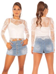 5890 Ing, Denim Skirt, Cute Outfits, Mini Skirts, Pictures, Tops, Fashion, Pretty Outfits, Photos