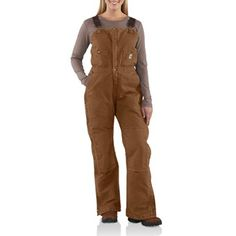 Carhartt Sandstone Bib Overalls - Insulated (For Women) in Carhartt Brown Hell yeah these would be good for mechanics class