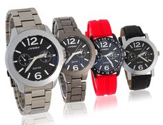SINOBI Stylish Men's Analog Watch Set with 3 Replace Watch Cases and Straps  $25.19 + free shipping --->> is.gd/6fkXyx