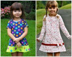 Girls Dress  A line Dress with Raglan Sleeves  PDF por SewlikeaPro
