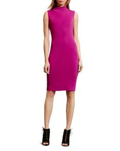 Lauren Ralph Lauren Sleeveless Turtleneck Dress | Bloomingdale's