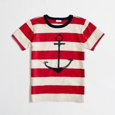 J.Crew Factory boys' stripe anchor storybook tee