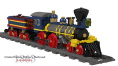 United States Military Railroad 4-4-0 Locomotive and Tender - Buildable | Flickr - Photo Sharing!