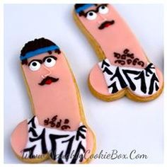 The Naughty Cookie Box | Delicious Treats with a Naughty Twist! 80's Fever Penis Cookie! Www.NaughtyCookieBox.Com The silly hair, greasy mustaches, and horrible fashion are back with our version of the 80's Fever Penis Cookie!