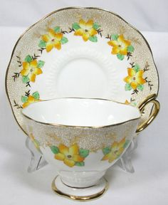 THIS IS A BEAUTIFUL TEACUP AND SAUCER. IT WAS MADE BY ROYAL ALBERT, OF FINE BONE CHINA, IN ENGLAND. IT IS CROWN CHINA. IT IS IN VERY GOOD CONDITION, WITH NO CHIPS, CRACKS, OR CRAZING. | eBay!