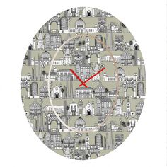 Sharon Turner Los Angeles Linen Oval Clock – DENY Designs