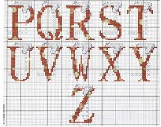 Alphabet lettres point de coix Mickey la souris (3) Alphabet, Disney, Cross Stitch, 3, Hobby, Amor, Punto De Cruz, Embroidery, Letters