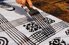 Marie's Pastiche: Adinkra Cloth | Make your own adinkra cloth craft