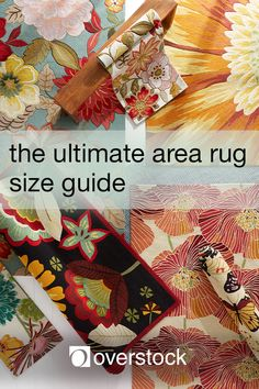 The Ultimate Area Rug Size Guide - The right size rug is essential to creating a room that looks well thought out and well decorated. Our complete guide to area rug sizing will help you determine the right rug for your space.