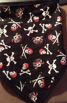 Biker Bandanas, Pirate Skull, Bandana Scarf, Skull And Bones, Velcro Straps, Skulls, Flannel, Scarfs, Style
