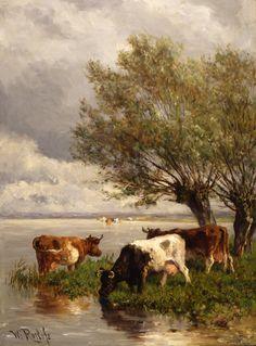 Koeien aan de plas - Willem Roelofs, 1909 | Collectie Boijmans