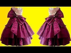 DIY Designer Two Layer Baby Frock Step By Step Full Tutorial - YouTube