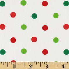 Pimatex Basics Polka Dots Scarlet/Green