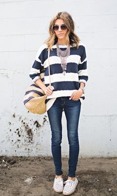 Tips for mixing different striped prints