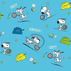 テニス頑張るスヌーピーの画像 プリ画像