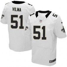 NFL  Men's Elite Nike New Orleans Saints #51 Jonathan Vilma White Jersey
