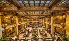 Lobby of the Davenport Hotel, Spokane WA