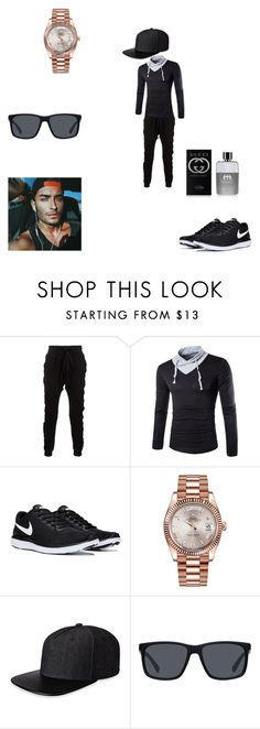 """""""Untitled #388"""" by alexys0612 ❤ liked on Polyvore featuring Blood Brother, Rolex, Gents, Armani Exchange, Gucci, men's fashion and menswear"""