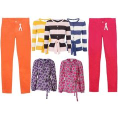 just the sweaters, not the floral blouses, however I do like the red jeans not the orange, I would like cobalt jeans