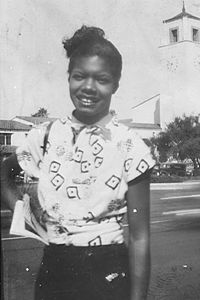 Maya Angelou was born Marguerite Annie Johnson in St. Louis, Missouri. Her parents divorced when she was only three and she was sent with her brother Bailey to live with their grandmother in the small town of Stamps, Arkansas.