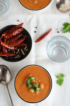 Indian-Spiced Cream of Tomato Soup with Whole Wheat Couscous