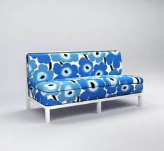All toddlers could use a fun #loveseat like this #blue patterned one from #ducduc.