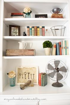 How to decorate and style bookshelves