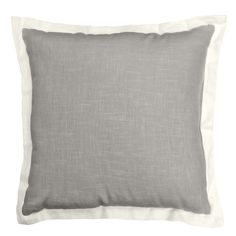 The Central Park throw pillow is constructed from linen and features a one inch pearl flange with a colored center available in four stunning colors. This modern and luxurious throw pillow offers a sophisticated designer touch to any sofa, bed or chair.