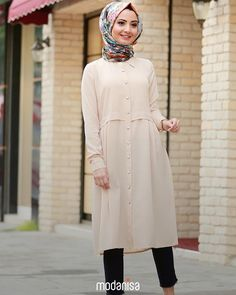 Modası asla geçmeyen ve her parçayla uyum sağlayan pudra rengi tunikle yaz kombinlerinin keyfini çıkar! ☺️ All time favourite fashionable powder coloured tunics will bring out the best of your summer experience!  Tunik- Tunic: 296259 - 134.90 TL  #hijab #hijabfashion #muslimwear #fashion #style #clothing #outfitofday #ootd #combination #picofday #instamoda #summer #yaz #modanisadabayram