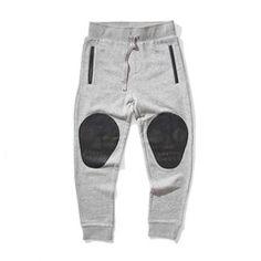 Skull Pad Pants Grey Marle