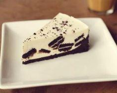 Cheesecake allégé en calories aux cookies Oreo® : http://www.fourchette-et-bikini.fr/recettes/recettes-minceur/cheesecake-allege-en-calories-aux-cookies-oreor.html