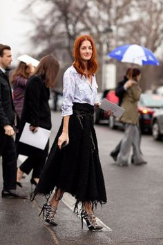 Paris Fashion Week: Street Style - HarpersBAZAAR.com