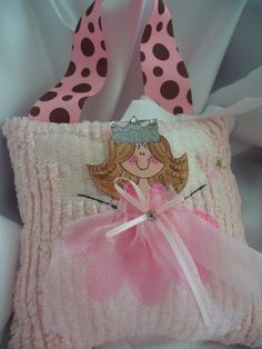 Tooth Fairy Pillow with Hand Painted Little Faces For Girls. $24.00, via Etsy.
